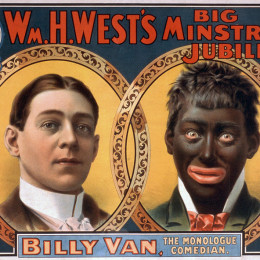 http://commons.wikimedia.org/wiki/Category:Blackface_minstrelsy#/media/File:Minstrel_PosterBillyVanWare.jpg